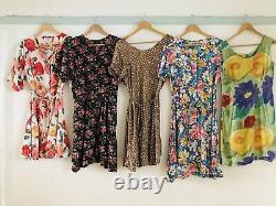 Job Lot #B 60 x 90s Vintage Hippy Floral Check Maxi Mini Summer Dresses Grade A