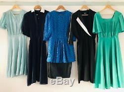 Job Lot #B Wholesale 60 x 70s 80s Vintage Shirt Secretary Dresses A Grade