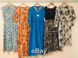 Job Lot #D Wholesale 60 x 70s 80s Vintage Shirt Secretary Maxi Dresses A Grade