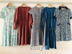 Job Lot #E 60 x 70s 80s Maxi Secretary Shirt Floral Summer Dresses Grade A