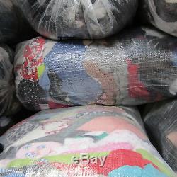 Job Lot approx 1 Tonne Summer Grade Mix Mens Ladies Kids Clothing Footwear Bags