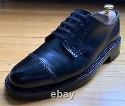 John McHale 51205 Custom Grade Black Oxford Captoe Shoes 8D Vintage 60s Gunboats