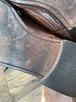 Men's Brown Leather CHURCH'S Custom Grade Dress Shoes 12.5 M Made in England N3