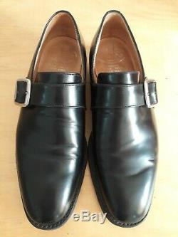 Mens Church's Black Westbury Monkstrap Custom Grade Shoe Size 7