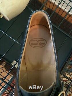 Mens Crockett and Jones Mortimer Hand Grade Monk Strap Shoes, Black, 10E/11D