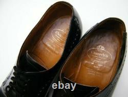 Mens Vtg Church's Custom Grade Black Leather Oxford Dress Shoes Sz 11 B 11b