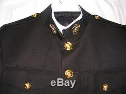USMC US Marine Dress Officer Uniform Lot 44L 35L Field Grade Hat Cover and Sword