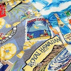 VINTAGE WHOLESALE 100 x HAWAIIAN PRINT SUMMER SHIRTS GRADE A