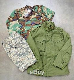VINTAGE WHOLESALE 25kg x USA ARMY MIX GRADE A MILITARY CAMO NAVY CAMOUFLAGE