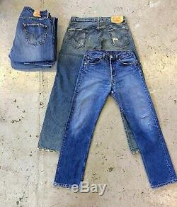 VINTAGE WHOLESALE 50 x LEVIS 501 JEANS GRADE B DENIM LEVI LEVI'S JOB LOT VTG