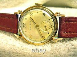 Vintage Bulova Hi Grade 21 Jewel, Cal. 10-BP, All Original, Dress Watch, RUNS