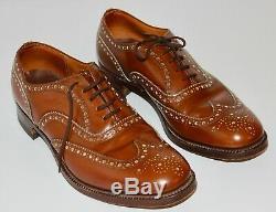 Vintage Church's Custom Grade Burwood England UK9 Tan Leather Brogues 90 F 81