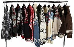 Vintage Icelandic Style Jumper Knitwear Wholesale Job Lot X10 Pieces Grade A