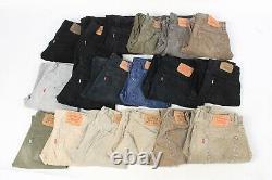 Vintage Levis Corduroy Trousers Pants Wholesale Grade A Minus Job Lot x25-Lot796