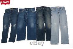 Vintage Levis Denim Jeans Grade B 90s Retro Job Lot Wholesale X20 Pieces