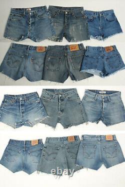 Vintage Levis Denim Womens Short Grade B Job Lot Wholesale x50 Pieces -Lot610