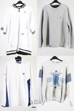 Vintage Tracksuit Tops Adidas Nike Etc. Job Lot Wholesale Grade B x30 -Lot400