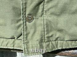 Vintage Us Navy Usn A-2 Deck Jacket Cold Weather Permeable Size Large Grade-1