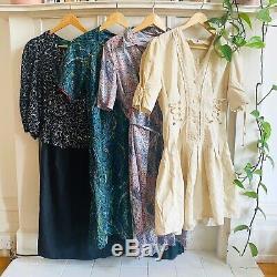Vintage Wholesale Dresses x 20 Grade A Job Lot 2 70s 80s 90s Mix
