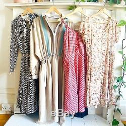 Vintage Wholesale Dresses x 20 Grade A Job Lot 3 70s 80s 90s Mix