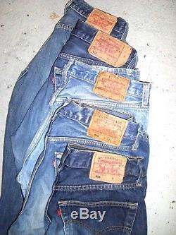 Vintage Wholesale Lot 1000kg Levi 501 Blue Denim Jeans Grade A/B Mix