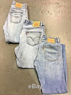 Vintage Wholesale Lot Levi Mixed Series Blue Denim Jeans Grade A B C x 500