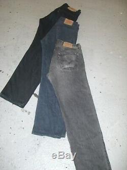 Vintage Wholesale Lot Levi's Mixed Series Blue Black Denim Jeans Grade A/B x 100