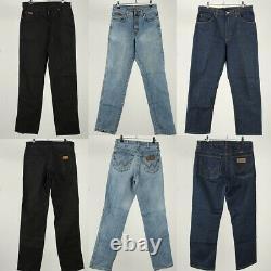 Vintage Wrangler Denim Jeans Mens Retro Job Lot Wholesale Grade A x40 -Lot644