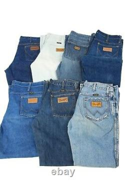 Vintage Wrangler Denim Jeans Retro Job Lot Wholesale Grade A x30 -Lot800