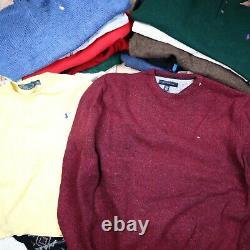 WHOLESALE JOBLOT Tops Bundle Sweaters Lacoste Ralph Lauren etc Grade A X22