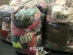 WHOLESALE JOBLOT USED SECOND HAND CLOTHES / HANDBAGS 25Kg MIX CREAM, GRADE A, B, C