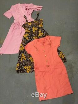 WHOLESALE VINTAGE DRESS MIX MIXED GRADE 70's 80's 90's X 100 CLEARANCE