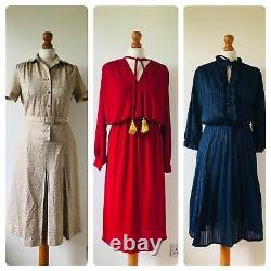 Wholesale Job Lot #A 48 x 70s 80s Floral Stripe Summer Shirt Dresses A Grade
