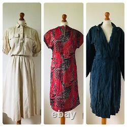 Wholesale Job Lot #B 48 x 70s 80s Floral Stripe Summer Shirt Dresses A Grade
