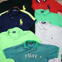Wholesale Job Lot Mens Womens Polo Ralph Lauren Vintage T-Shirts Top X77 Grade A