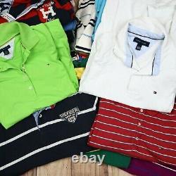 Wholesale Job Lot Mens Womens Tommy Hilfiger Vintage Polo T-Shirts X25 Grade A