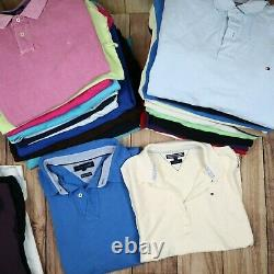 Wholesale Job Lot Mens Womens Tommy Hilfiger Vintage Polo T-Shirts X25 Grade A