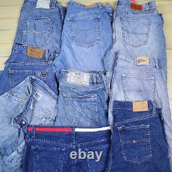 Wholesale Job Lot Mens Womens Vintage Branded Jeans and Chinos Mix X31 Grade A