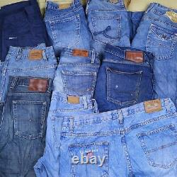 Wholesale Job Lot Mens Womens Vintage Branded Jeans and Chinos Mix X32 Grade A