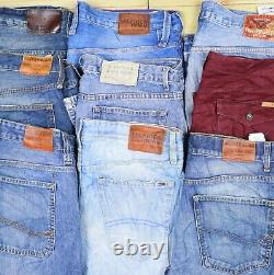 Wholesale Job Lot Mens Womens Vintage Branded Jeans and Chinos Mix X34 Grade A