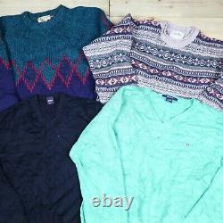 Wholesale Job Lot Mens Womens Vintage Branded Knitwear Sweaters X25 Grade A