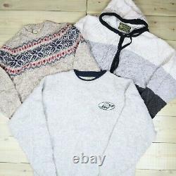 Wholesale Job Lot Mens Womens Vintage Branded Wool Knitwear Sweaters X19 Grade A