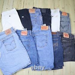 Wholesale Job Lot Mens Womens Vintage Levis Denim Shorts X26 Grade A