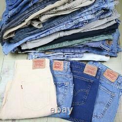 Wholesale Job Lot Mens Womens Vintage Levis Denim Shorts X38 Grade A