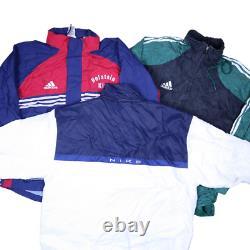 Wholesale Job Lot Nike Adidas Reebok etc Vintage Shell Jackets X29 Grade A