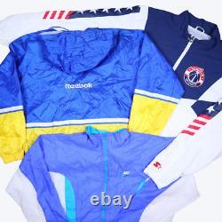 Wholesale Job Lot Nike Adidas Reebok etc Vintage Shell Jackets X30 Grade A