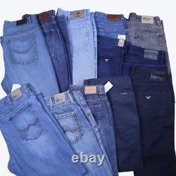 Wholesale Job Lot Vintage Branded Jeans and Cotton Trousers Mix X27 Grade A