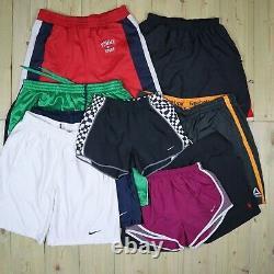 Wholesale Job Lot Vintage Branded Sport Shorts Nike, Adidas etc X75 Grade A