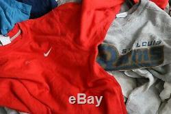 Wholesale Joblot Of 25 Grade C Vintage Branded Sweatshirts Jumpers Tops