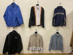 Wholesale Joblot Vintage Tracksuit Jackets A&B Grade Unbranded X43 Tracks
